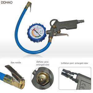 DDHAO Automotive Tire Multifuncional pressão Gauge Tire Pressure Monitor de travamento automático pistola Grip Ferramentas de disparo de diagnóstico