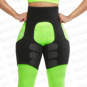 Neopren Vücut Şekillendirici Bacak Şekillendiriciler İnce Zayıflama Kemeri Trainer Erkekler Kadınlar Shapewear Toned Kaslar Bant İnce Uyluk ince yapılı Wrap E31207 Sweat