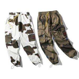Mens Designer Cargo Pants Camouflage Trousers Mens Summer Loose Personality Beam Feet Casual Sports Trousers Size M-2XL