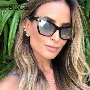 Sunglasses Women 2020 Women Cat Eye Sunglasses Brand Designer Vintage Travel Summer Sun Glasses Plus Size New Arrival
