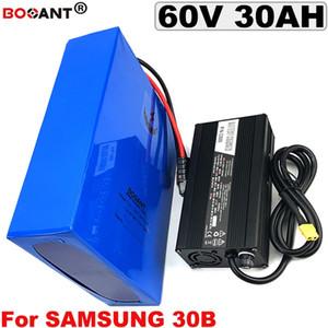 Wieder aufladbare E-Fahrrad 60V Lithium-Batterie 60V 30Ah elektrische Fahrrad-Batterie für Zelle 60V 1500W 2500W Samsungs 18650 Freies Verschiffen