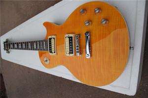 free shipping custom LP standard slash guitar,yellow guitar,HH pickups,mahogany body,mahogany neck,chrome hardware,rosewood fretboard,