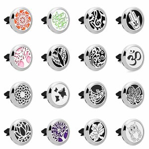 wing Magnet 30mm Stainless car air freshener Free Pads Aroma Essential Oil Car Diffuser Locket Vent Clip