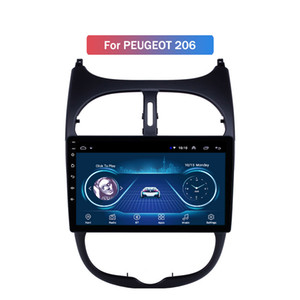 GPS Autoradio HD Touchscreen Car Radio Audio 9 inch Android 10 for Peugeot 206 2000-2016