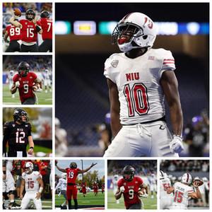 NIU Northern Illinois HuskiesJerseys George Bork Jersey Mark Kellar Erik Abrell Mark Aitken College Football Jerseys Custom Stitched