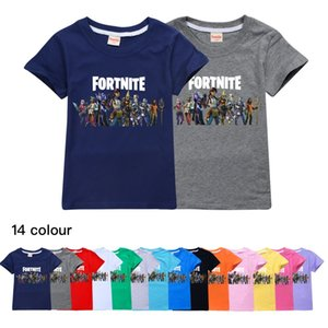 14 Color Fortnite Children's Wear Summer Wear Cotton Casual Tops Men's and Children's Wear Short Sleeve T-shirt 509 Baby Kids Clothing