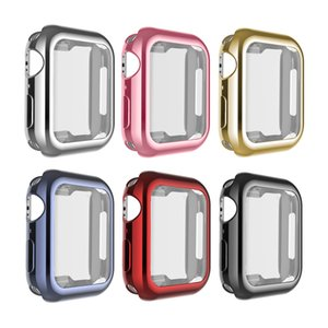 Para Apple Watch iWatch 4 360 ° totalmente protegido Soft TPU Plating Case Bumper Para iWatch Series 40mm 42mm Cubierta de marco de protección total