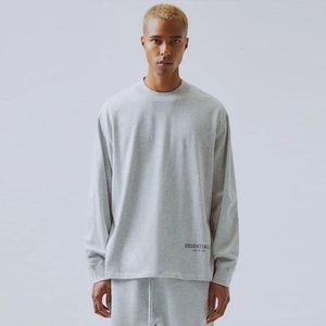 19FW Fear of God FOG ESSENTIALS 3M Reflective Long Sleeve Solid Pullover Sweatshirt Crewneck Sweater Casual Street Hoodie T Shirts HFYMWY265