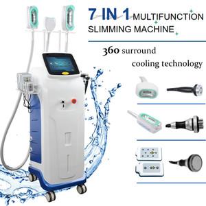 Profesional 360 surrond eliminación de celulitis cryolipolysis de eliminación de grasa sistema de refrigeración de vacío lipo rf láser máquina cavitación pérdida de peso
