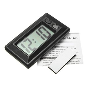 Hot Ultra-dünne LCD-Digital-Display Auto-Träger-Armaturenbrett-Uhr mit Kalender-Anzeige Tragbare Mini-Automobilzubehör