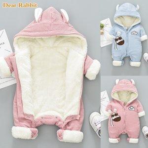 -30 degrés Nouvelle hiver salopette pour les enfants manteau bébé nouveau-né neige Porter Habineige garçon chaud vers le bas coton fille Vêtements Bodysuit 0-18m
