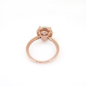 Оптово-Teardrop кольцо 925 посеребренных розовое золото с оригинальной коробкой для Pandora ювелирных изделий CZ алмазы дамы кольцо праздник подарок