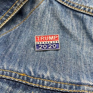 TRUMP Name Brooch for Presidential Election Metal Enamel Brooches Pin Jewelry Women Men Brooches Backpack Lapel Pins Party Favor Gifts DHL
