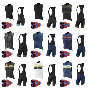 Capo Team Breathable Men Sleeveless Bib Shorts 9d Gel Pad Sports Jersey Sets Cycling Sleeveless Jersey Vest Bib Shorts Sets