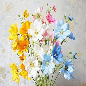 """همية قصيرة الجذعية كوزموس (3 ينبع / قطعة) 20.47 """"طول محاكاة Galsang الزهور لديكور المنزل يرتكز الزفاف"""