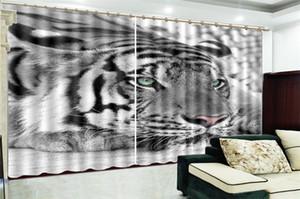 Atacado 3d Cortina tigre feroz Cortinas bonito e prático blackout no quarto vivo Bedroom