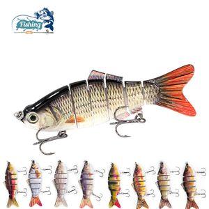 Original D6A Fishing Lure Wobbler Swimbait Swim Crank bait Crankbait Isca Artificial 6 Segement Bass Pike Fish Sea Lake River