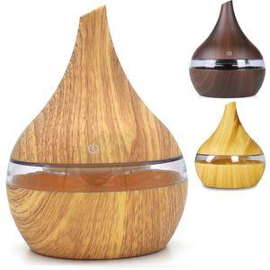 300 ml USB Elektrische Aroma Diffusor Led Holzmaserung Luftbefeuchter Ätherisches Öl Aromatherapie Maschine Kühlen Luftreiniger Maker Für Zuhause WX9-1238