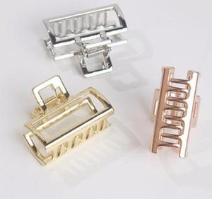 Schwarz / gold / silber / rose Gold Metall Moderne Stilvolle L / s Klaue Clips Für Frauen Brötchenhersteller Haarnadeln Krabben Haarschmuck