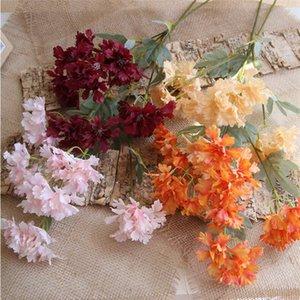 """Finto monococco stelo ciliegio (6 teste / pezzo) 23.62 """"lunghezza simulazione Begonia Cherry Blossom per matrimonio casa decorativa fiore artificiale"""