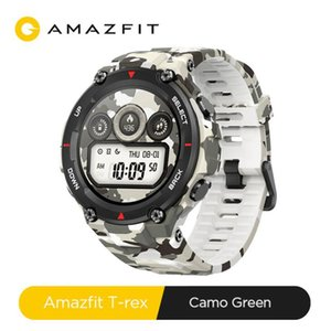 For Android CES Amazfit T-rex Smartwatch Control Music 5ATM Smart Watch GPS GLONASS 20 Days Battery Life MIL-STD T-rex Smartwatch