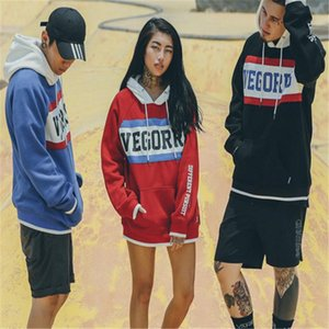 2018 New Trend Mens Women Hoodies Street Style Hip Hop Freestyle Letter Printing Loose Casual Style Two-colors Size M-2XL