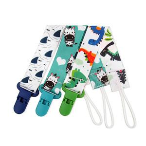 Tissu Pacifier Clips coloré bébé nouveau-né Pacifier chaîne Cartoon SUCETTE bébé Teether Charm Jouets Clips Ensemble de 3