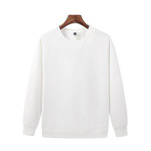 Les derniers automne et blanc Pull col ras du cou en polaire hiver coton des hommes de chemise à manches longues JH-022-048