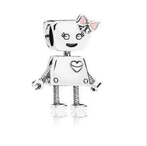Fit Pandora Charme Pulseira Europeu Prata Bead Charme Bella Máquina Robô Ouro PL Rodada Encantos Contas DIY Para As Mulheres Pulseira Colar de Jóias