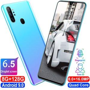 """note100 6.5""""Full big screen phone Dual sim card 4G 10core 8+128GB 8.0+16.0MP 3000mah Fingerprint unlocks face ID Android smartphone Call pho"""