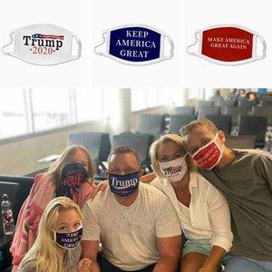 máscara para adultos niños cara de triunfo a prueba de polvo lavable reutilizable keep america grandes máscaras EE.UU. bandera de triunfo 2020 cara de algodón máscara ZZA2440