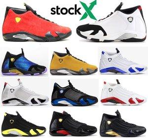 New 14 14s Hiper Royal Black Toe Fusão Varsity Red Suede DB Doernbecher Homens tênis de basquete Last Shot Trovão DMP Sneakers Com Box