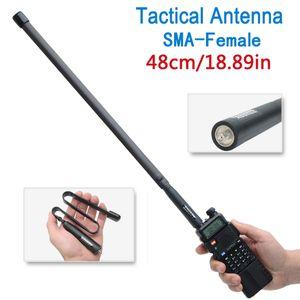 Abbray 48 cm / 18.89 polegadas Tactical Antena SMA-Fêmea Dual Band VHF UHF 144/430 Mhz Dobrável Para Walkie Talkie Baofeng UV-5R UV-82 UV5R BF-888S