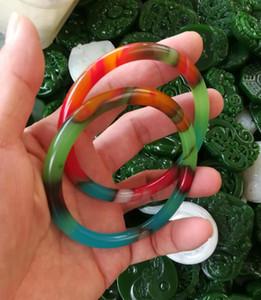 56-60mm Brazalete de jade colorido natural chino entrega gratuita A1