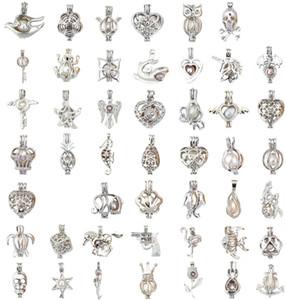 Mezcle 60 Estilo de jaula EN STOCK 18kgp amor deseo jaula de perlas Venta al por mayor colgante locket jaulas Colgantes, collar de perlas DIY colgantes colgantes
