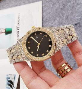 Luxury Women Diamond Watches Gold Bracelet Ladies Clock Fashion Stainless Steel Quartz Wrist Watches For Women Men