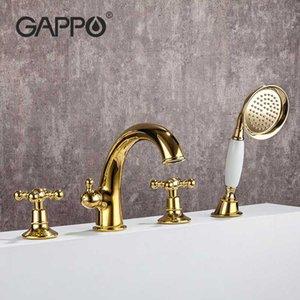 Gappo rubinetto vasca da bagno doccia rubinetto d'oro Retro vasca da bagno doccia Set bagno della cascata di acqua del miscelatore Rubinetti G1189-6