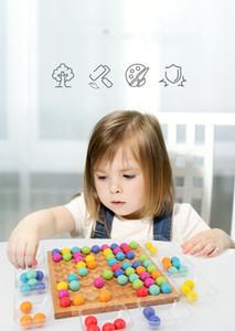 Candywood Holz Multi-Funktions-Bead Puzzle-Spiel für Kinder Montessori pädagogische Spielzeug-Clip Fun und Spaß Holzspielzeug für Kinder Lernen