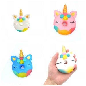Lovely Tuba Unicorn Donut Toys Morbido Squishy Tre colori Resina Slow Rising Toy Novità Articoli Regali Nuovo Arrivo 4 1zjE1