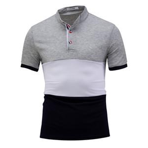 Summer Mens Designer manches courtes Polos Casual Teenager T-shirts lambrissé Slim Polos Pull Homme Vêtements