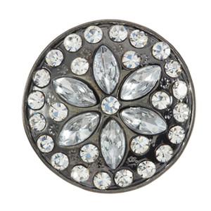 20шт новый рождественский Оснастки ювелирные изделия Снежинка Snap Button Fit DIY браслет для женщин Рождественский подарок