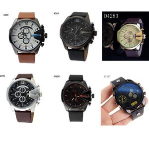 Классический дизайн Прохладный Большой корпус часов для мужчин Авто Дата Army Military Relogio Аналоговые кварцевые Мужчина для Мужские часы Спортивные часы Мужской 7291 7256