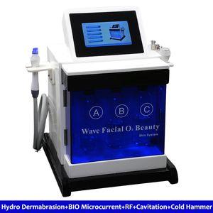 Micro Crystal Dermabrasion Aqua Cleaner Soin du visage anti-âge Réparation de la glace Poignée de refroidissement Poignée de levage Rf Bio Lifting Face Machine Dispositifs de soin de la peau