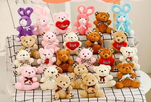 9cm plush toy Teddy Bear toy pendant wedding gift cartoon bouquet doll