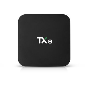 TX8 Andriod Fernsehkasten 4GB 32 64GB RK3318 Android 9.0 TV Box 2.4G 5G WiFi Bluetooth 4.0 Smart TV Box