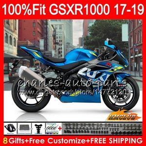Injeção Para SUZUKI GSX R1000 GSX-R1000 GSXR 1000 17 18 19 17HC.10 L7 L8 GSXR-1000 azul brilhante novo K17 GSXR1000 2017 2018 2019 kit Carenagem