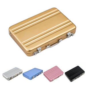 Mini Briefcase Business Card Case Id Holders Password Aluminium Credit Card Holder Credit Case Box Wholesale