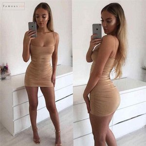 Robe Taille d'été Femmes Stylistes Bandage manches bodycon Casual Slim Party Cocktail Club Mini Milk Silk Regular