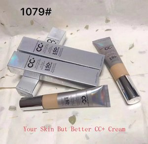 Moyenne Light BB CC + Crèmes 1079 # Silver UVA UVB 50+ Base Maquillage Couverture Extreme Covering CC + Liquid Foundation Primer