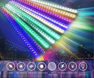 30 / 50 / 80cm 유성 샤워 튜브 야외 유성 빗 빛 방수 8 튜브 LED 문자열 빛 크리스마스 웨딩 파티 장식 VT0908